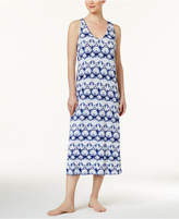 Alfani Racerback Printed Knit Nightgown, Created for Macy's