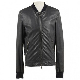 Saint Laurent Grey Leather Jackets