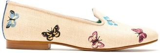 Blue Bird Shoes straw Borboletas loafer