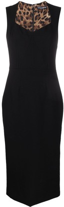 Dolce & Gabbana Black Fitted Dress With Sweetheart Neckline