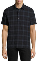 Ovadia & Sons Plaid Short-Sleeve Shirt, Blue