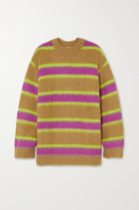 ANDERSSON BELL Striped Knitted Sweater - Camel