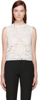 Saint Laurent White Floral Lace Blouse