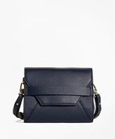 Brooks Brothers Pebble Calfskin Crossbody Bag