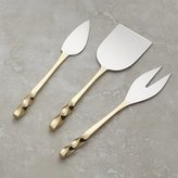Crate & Barrel Gold Cheese Knives