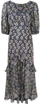 Rixo Floral-Print Silk Dress