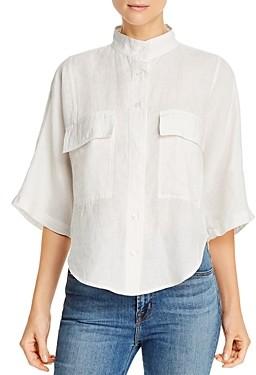 Frame Safari Linen High-Low Shirt