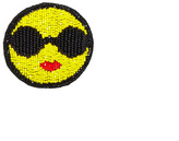 Alice + Olivia Medium Stace Emoji Embellished Brooch