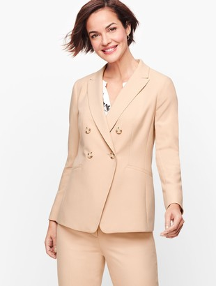 Talbots Luxe Italian Double Weave Collection - Double Breasted Blazer