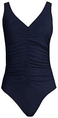 Karla Colletto Swim Women's V-Neck Underwire Swimsuit