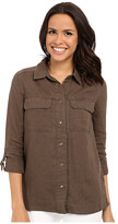KUT from the Kloth Elva Long Sleeve Button Up Top