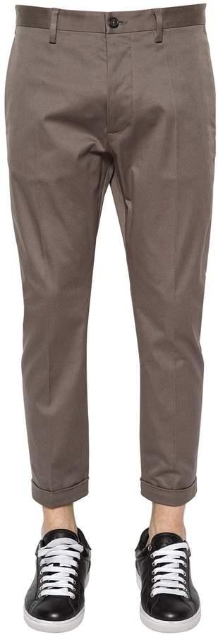 DSQUARED2 16cm Hockney Stretch Cotton Twill Pants