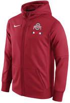 Nike Men's Ohio State Buckeyes Therma Fit Sideline Full-Zip Hoodie