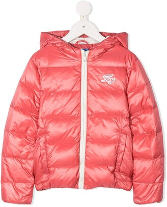 Fay Kids Feather Down Hooded Jacket