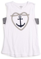 T2 Love Girl's Heart Anchor Graphic Tee