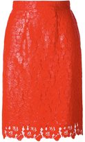 House of Holland lace overlay skirt - women - Polyester/rubber - 6