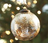 Silver & Gold Mercury Glass Ball Ornament