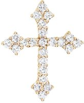 "Direct-Jewelry 14K Yellow Gold .53 Ct Diamond Cross Pendant with 18"" Chain"