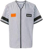 MSGM zipped stripe shirt