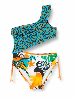 Tuc Tuc Green Printed Trikini For Girl Party Animal