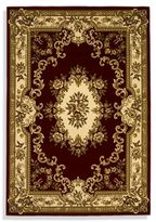Kas Corinthian Area Rug in Red/Ivory Aubusson