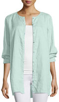 Eileen Fisher Organic Linen Long Shirt