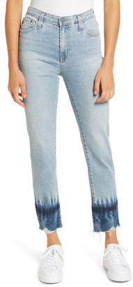 AG Jeans The Isabelle High Waist Raw Hem Ankle Jeans