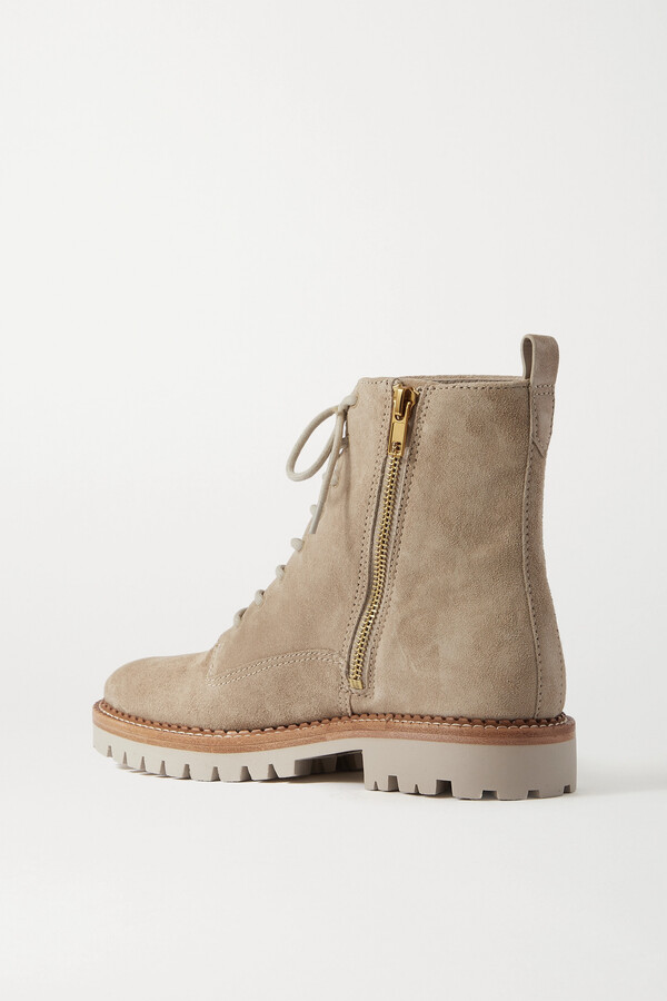 Thumbnail for your product : Vince Cabria Suede Ankle Boots - Off-white