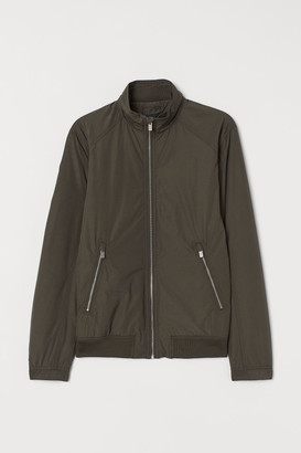 H&M Jacket with Stand-up Collar - Beige