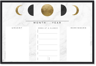 Oliver Gal Moon Phase Reminder Marble And Gold Office Whiteboard Dry Erase Board By The Artist Co.