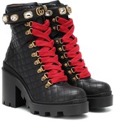 Gucci Trip leather ankle boots