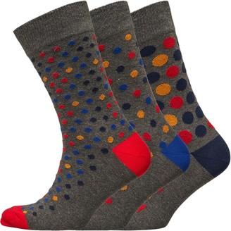 Kangaroo Poo Mens Three Pack Socks Multi