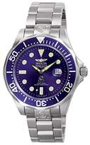 Invicta Unisex Pro Diver Automatic Watch with Blue Dial Analogue Display and Silver Stainless Steel Bracelet 3045