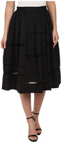 Nicole Miller Poplin Trim Full Skirt