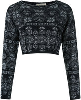 Cecilia Prado knitted cropped top - women - Acrylic/Lurex/Polyamide - PP