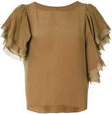Muller of Yoshio Kubo Muller Of Yoshiokubo - ruffle sleeve blouse - women - Rayon/Silk - 38