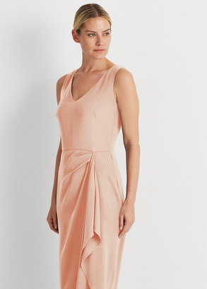 Ralph Lauren Georgette V-Neck Dress