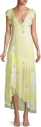 Free People Floral Waterfall Maxi Dress