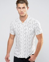 Bellfield Short Sleeve Geo Print T-Shirt