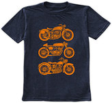 Urban Smalls Navy Motorcycles Crewneck Tee - Toddler & Boys
