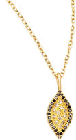 Jamie Wolf Scalloped Black/Cognac Diamond Marquise Necklace