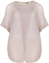 Isolde Roth Plus Size Layered boucle jumper