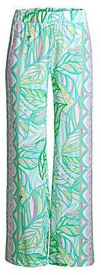 Lilly Pulitzer Women's Bal Harbour Palazzo Print Wide-Leg Pants