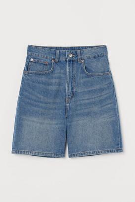 H&M High Denim Shorts - Blue