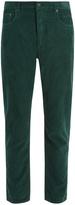 Prada Slim-leg cotton-corduroy trousers