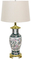 One Kings Lane Vintage Ginger Jar Table Lamp - Vintage Bella Home - white/multi