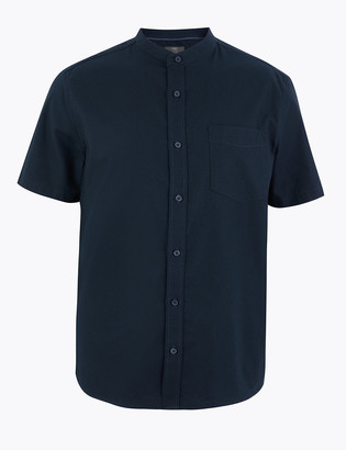 Marks and Spencer Pure Cotton Grandad Oxford Shirt