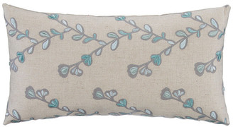 Glenna Jean The Grouchy Goose By Twig Embroidery Tan Linen Pillow