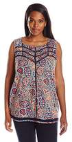 Lucky Brand Women's Plus-Size Ladder Stitch Tank In Top