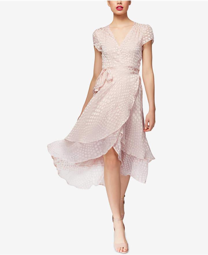 Betsey Johnson Clip-Dot Wrap Dress